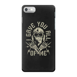 skull in bandana and hoodie with skeleton hands iPhone 7 Case | Artistshot