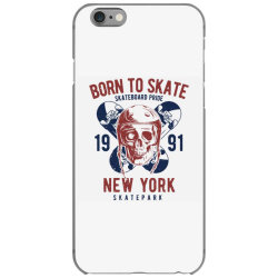 skull in skateboard helmet and two skateboards iPhone 6/6s Case | Artistshot