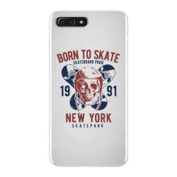 skull in skateboard helmet and two skateboards iPhone 7 Plus Case | Artistshot