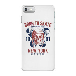 skull in skateboard helmet and two skateboards iPhone 7 Case | Artistshot