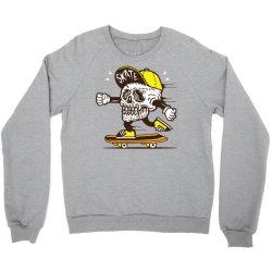skull head skater skateboard Crewneck Sweatshirt   Artistshot