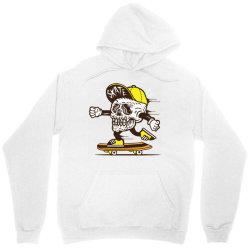 skull head skater skateboard Unisex Hoodie   Artistshot
