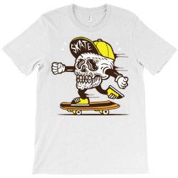 skull head skater skateboard T-Shirt   Artistshot