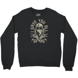 skull in bandana and hoodie with skeleton hands Crewneck Sweatshirt | Artistshot