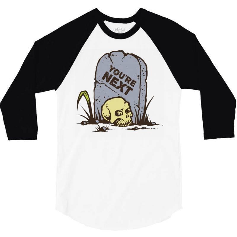 Skull In The Graveyard 3/4 Sleeve Shirt | Artistshot