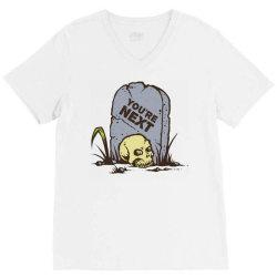 skull in the graveyard V-Neck Tee | Artistshot