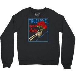 skull hand holding rose Crewneck Sweatshirt | Artistshot