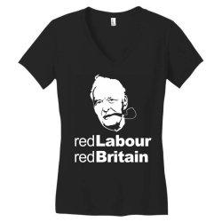 tony benn red labour Women's V-Neck T-Shirt | Artistshot
