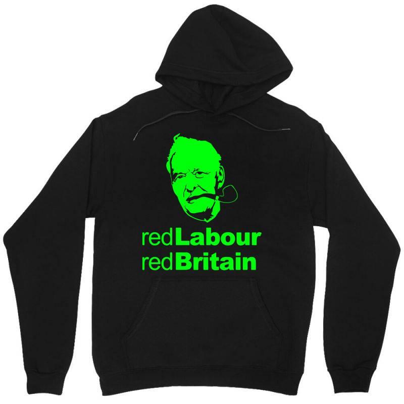 Tony Benn Red Labour 3 Unisex Hoodie | Artistshot