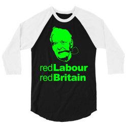 tony benn red labour 3 3/4 Sleeve Shirt | Artistshot