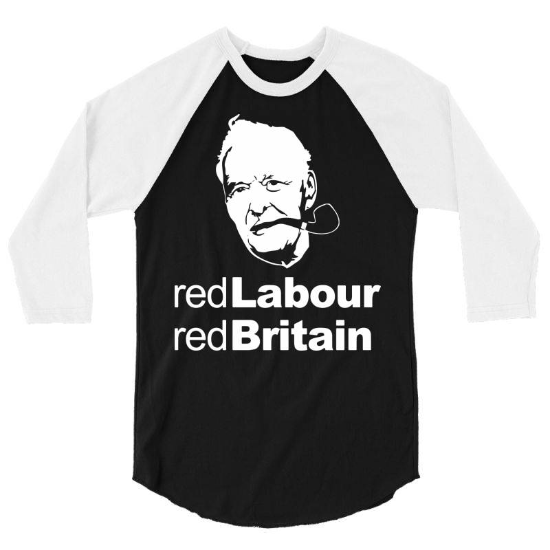 Tony Benn Red Labour 3/4 Sleeve Shirt | Artistshot