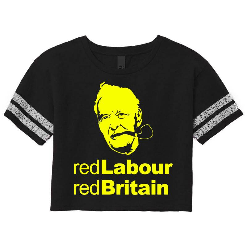 Tony Benn Red Labour 4 Scorecard Crop Tee | Artistshot