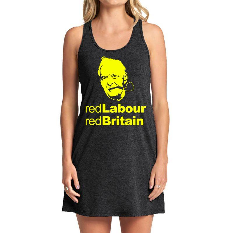 Tony Benn Red Labour 4 Tank Dress | Artistshot