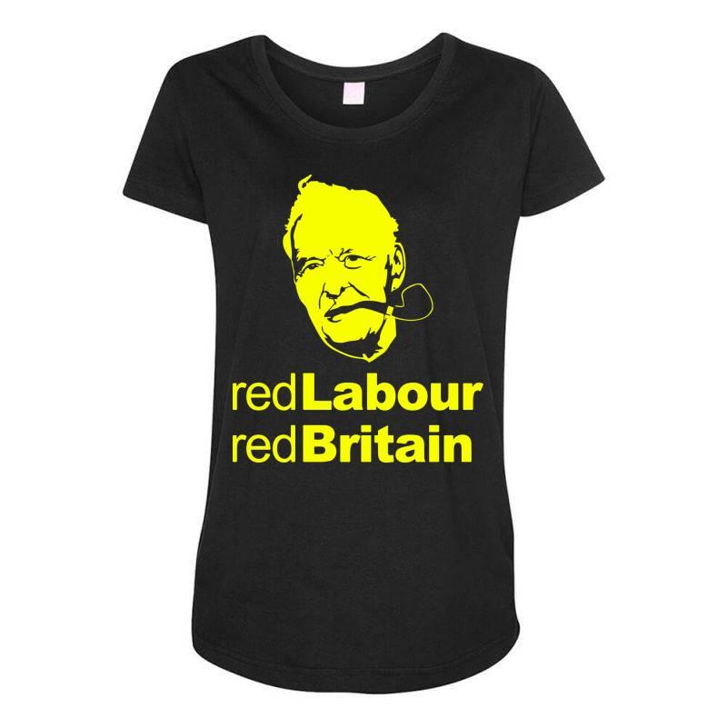 Tony Benn Red Labour 4 Maternity Scoop Neck T-shirt | Artistshot