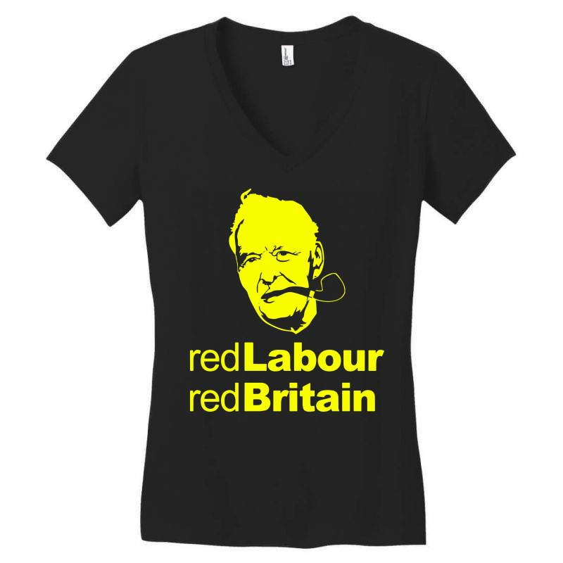 Tony Benn Red Labour 4 Women's V-neck T-shirt | Artistshot