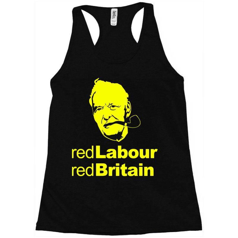 Tony Benn Red Labour 4 Racerback Tank | Artistshot