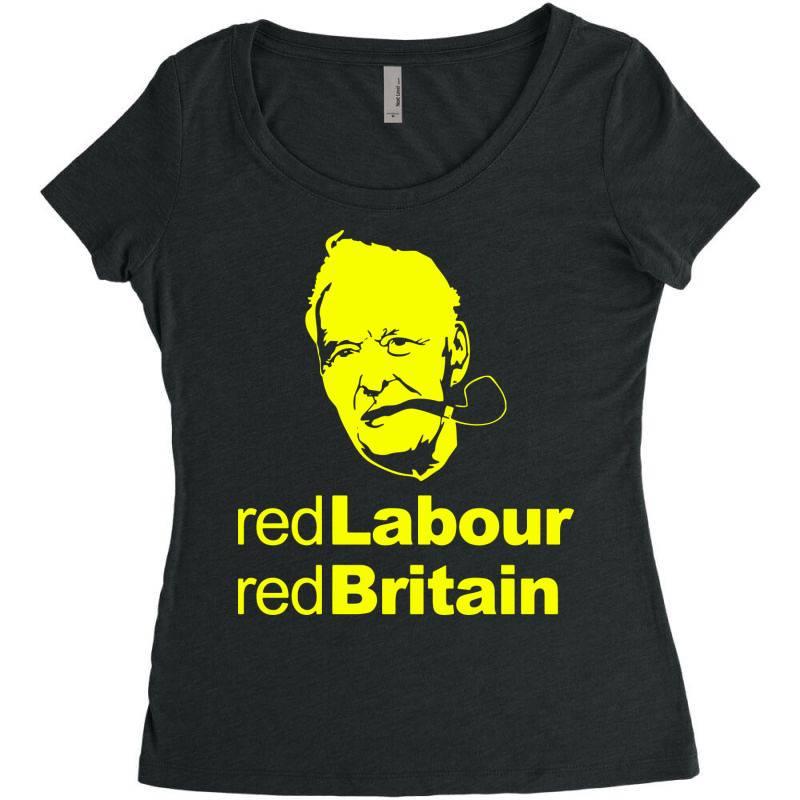 Tony Benn Red Labour 4 Women's Triblend Scoop T-shirt | Artistshot