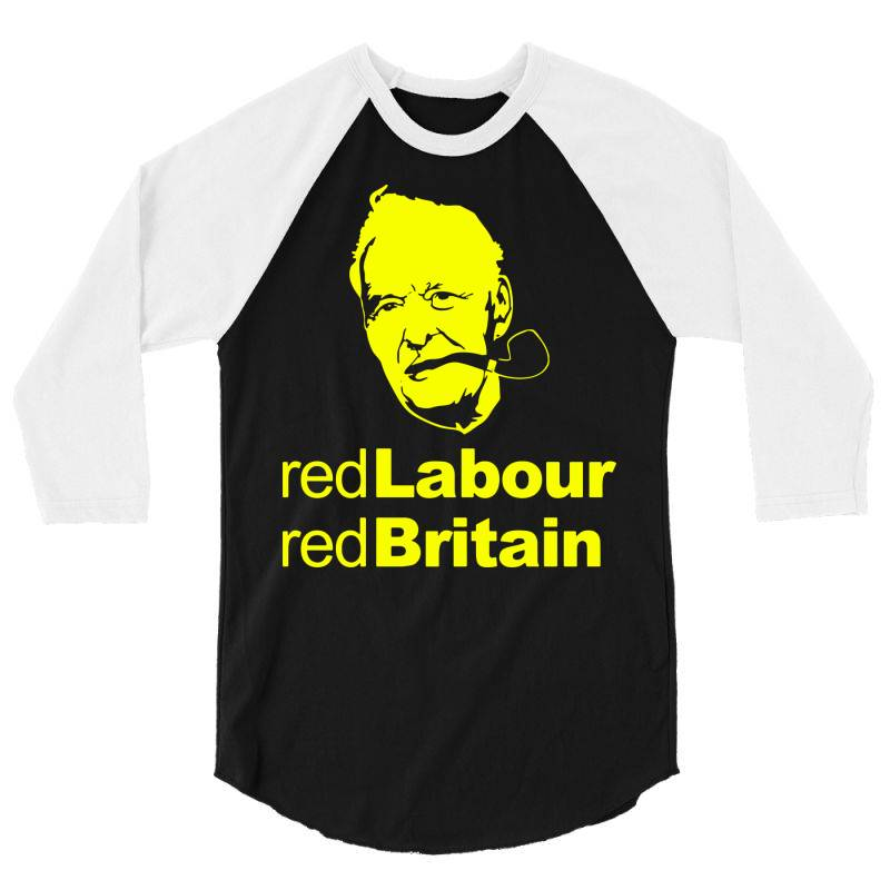 Tony Benn Red Labour 4 3/4 Sleeve Shirt   Artistshot