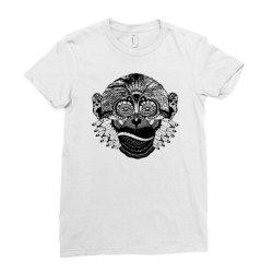 tribal monkey Ladies Fitted T-Shirt   Artistshot