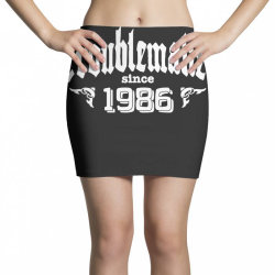 troublemaker since 1986 Mini Skirts | Artistshot