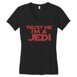 trust me i'm a jedi 1 Women's V-Neck T-Shirt | Artistshot