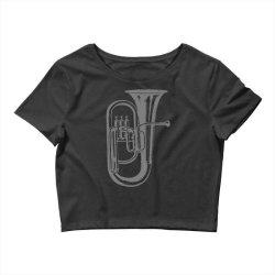 tuba trumpet saxhorn brass wind instrument(1) Crop Top   Artistshot