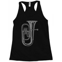 tuba trumpet saxhorn brass wind instrument(1) Racerback Tank   Artistshot