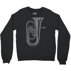 tuba trumpet saxhorn brass wind instrument(1) Crewneck Sweatshirt | Artistshot