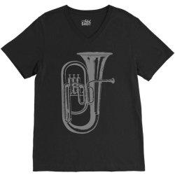 tuba trumpet saxhorn brass wind instrument(1) V-Neck Tee | Artistshot