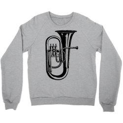 tuba trumpet saxhorn brass wind instrument Crewneck Sweatshirt | Artistshot