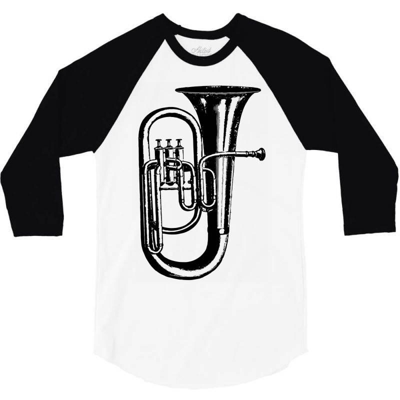 Tuba Trumpet Saxhorn Brass Wind Instrument 3/4 Sleeve Shirt | Artistshot