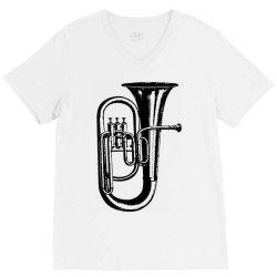 tuba trumpet saxhorn brass wind instrument V-Neck Tee | Artistshot