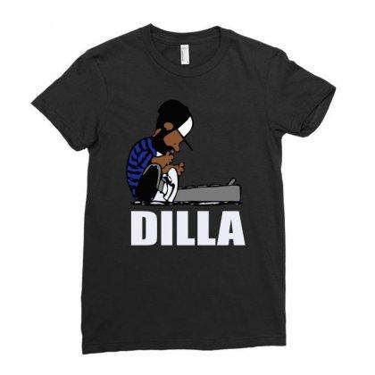 Dilla Schroeder Ladies Fitted T-shirt Designed By Henz Art