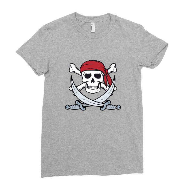 Crossbones Buccaneer Ladies Fitted T-shirt | Artistshot