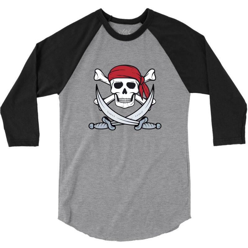 Crossbones Buccaneer 3/4 Sleeve Shirt | Artistshot