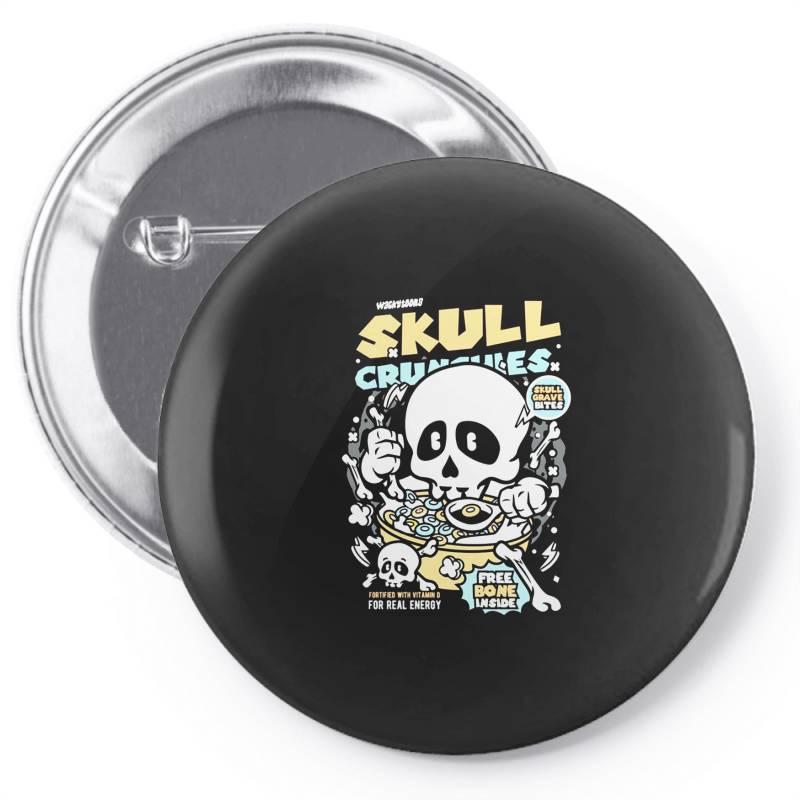 Skull Crunchies Cereal Pin-back Button   Artistshot