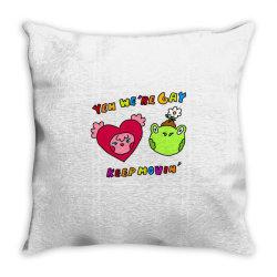 keep it movin classic t shirt Throw Pillow | Artistshot