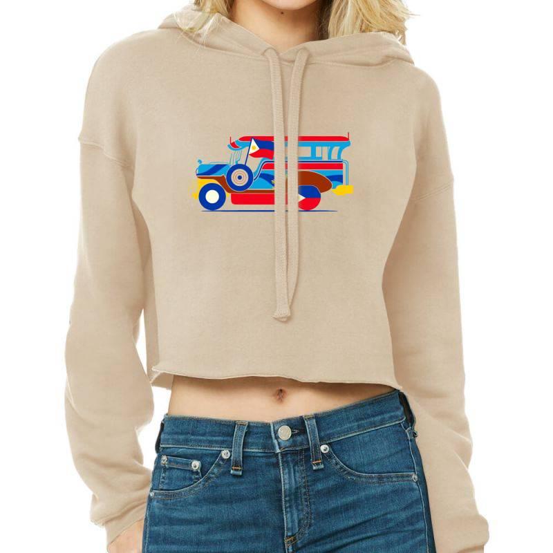 Jeepney Classic T Shirt Cropped Hoodie   Artistshot