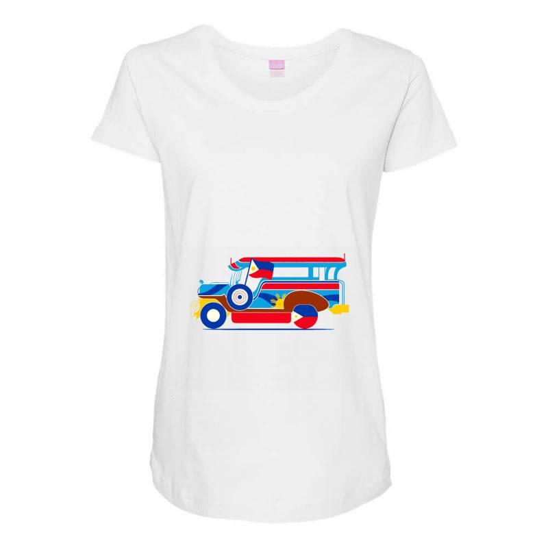 Jeepney Classic T Shirt Maternity Scoop Neck T-shirt   Artistshot
