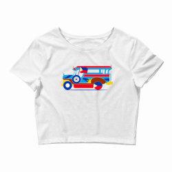 jeepney classic t shirt Crop Top | Artistshot
