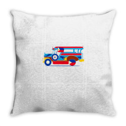 jeepney classic t shirt Throw Pillow | Artistshot