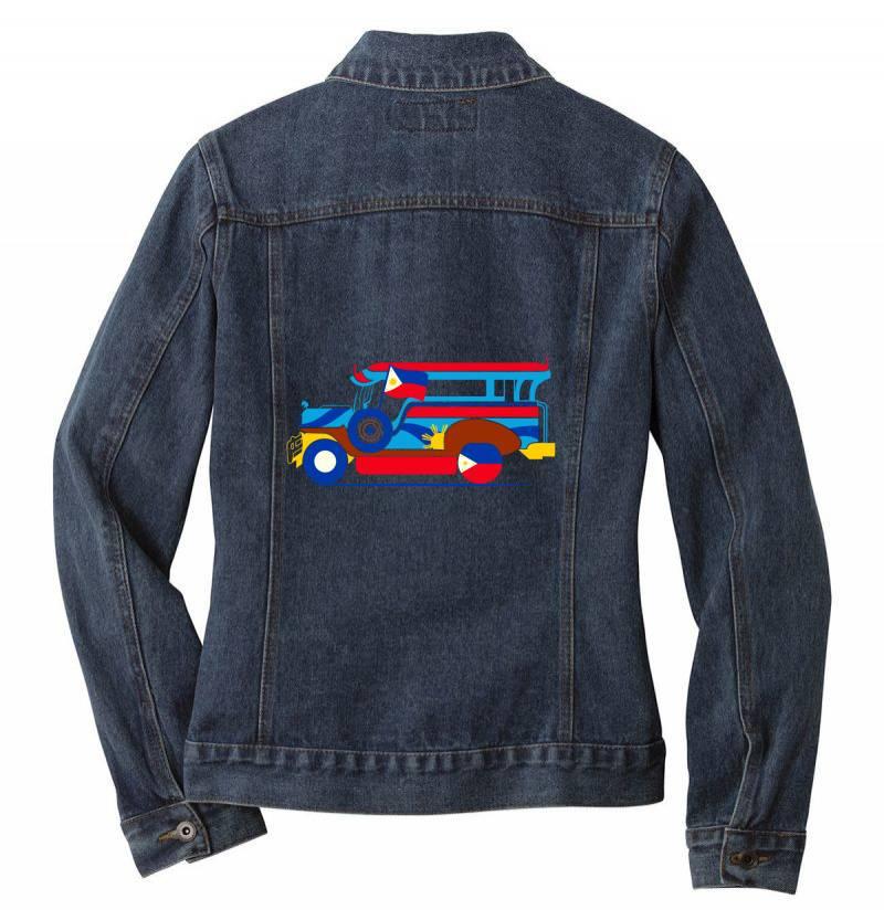 Jeepney Classic T Shirt Ladies Denim Jacket | Artistshot