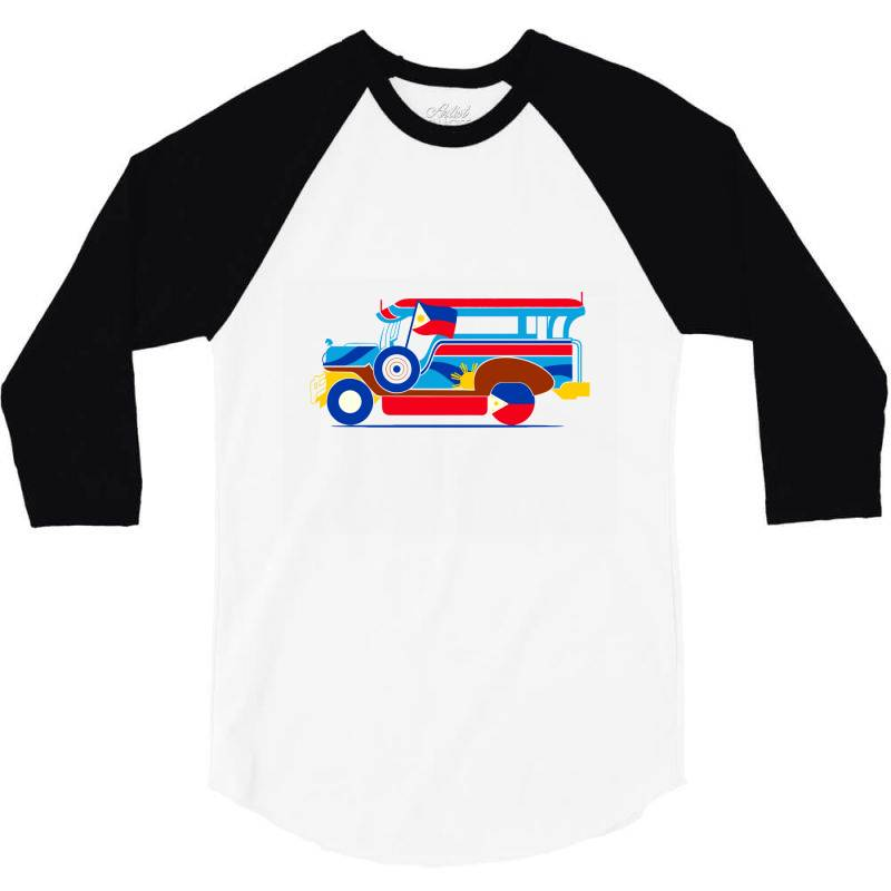 Jeepney Classic T Shirt 3/4 Sleeve Shirt   Artistshot
