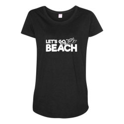 beach bound let's go to the beach Maternity Scoop Neck T-shirt | Artistshot