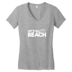 beach bound let's go to the beach Women's V-Neck T-Shirt | Artistshot