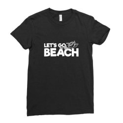 beach bound let's go to the beach Ladies Fitted T-Shirt | Artistshot