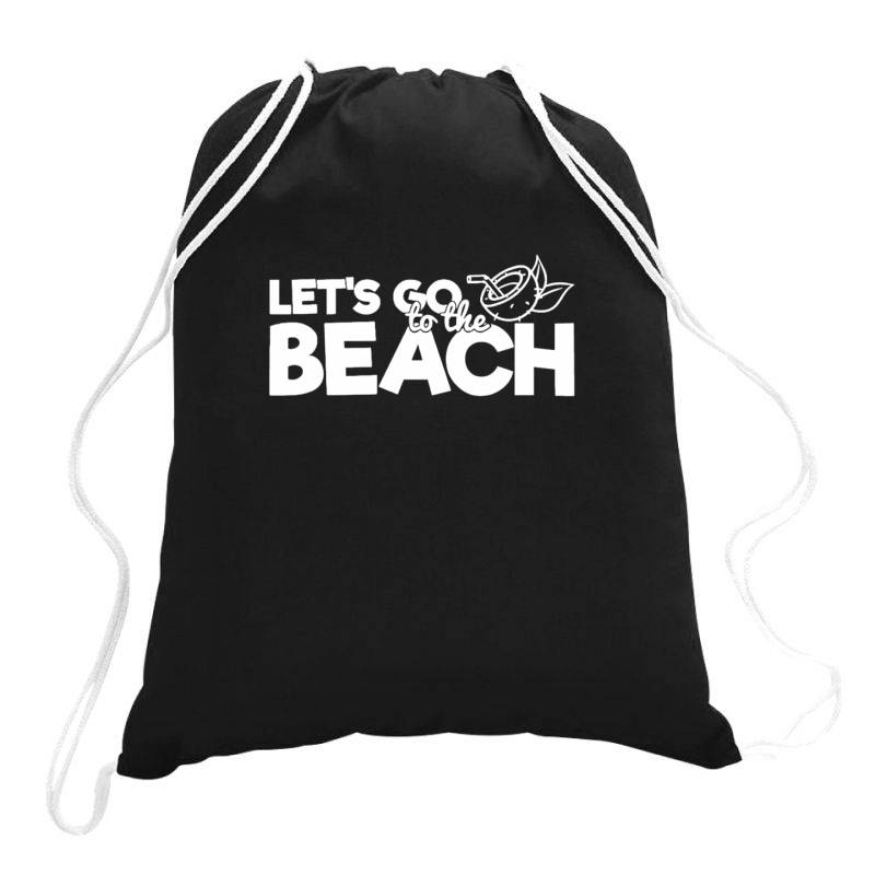 Beach Bound Let's Go To The Beach Drawstring Bags | Artistshot