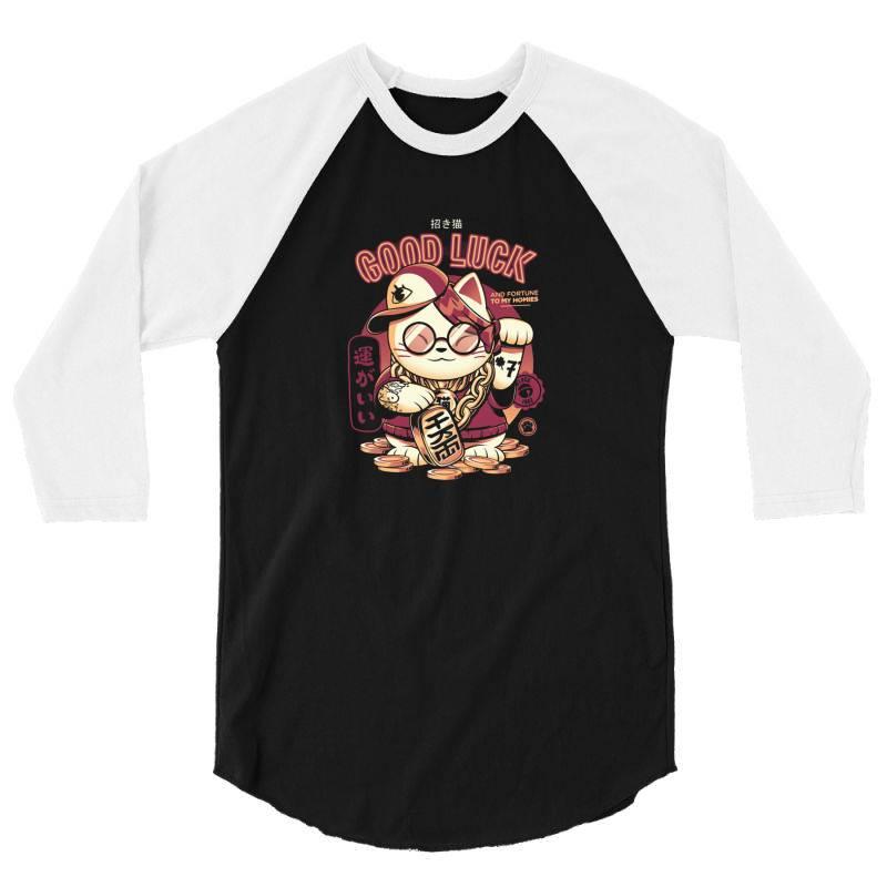 Lucky Cat 3/4 Sleeve Shirt | Artistshot