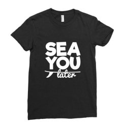 beach bound sea you later Ladies Fitted T-Shirt | Artistshot