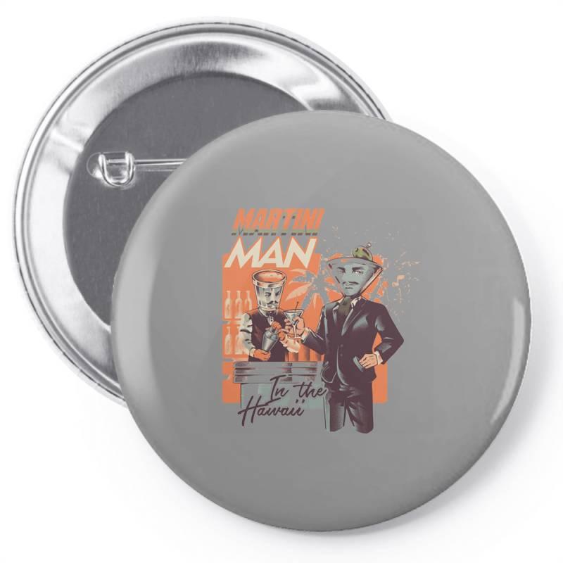 Martini Man Pin-back Button | Artistshot